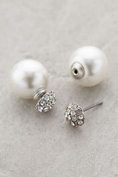 pearl-backed studs / anthropologie