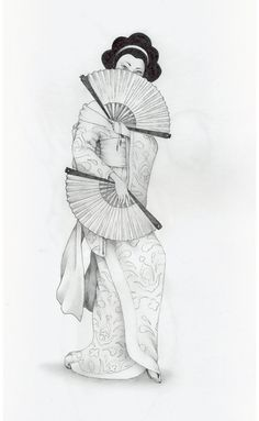 This is my recent work - Geisha... I just finished coloring it in PS, but i wonted to show you how it looked like before... If you wont to color or line it, drop me a note