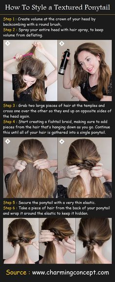 How To Style a Textured Ponytail