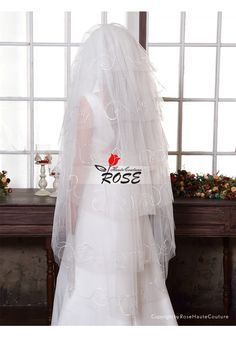 Wedding Veil Bridal Veil Multi Tiers Veil With Comb Style BV164 - Wedding Veil