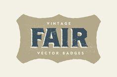 15 Vintage Fair Badges #graphicdesign #illustrations #vectorshapes #graphics #seamlesstextures #floralpattern