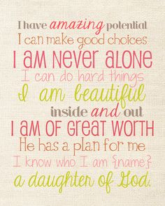 I am a daughter of God.