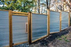 Corrugated Metal Privacy Screen Less Framing