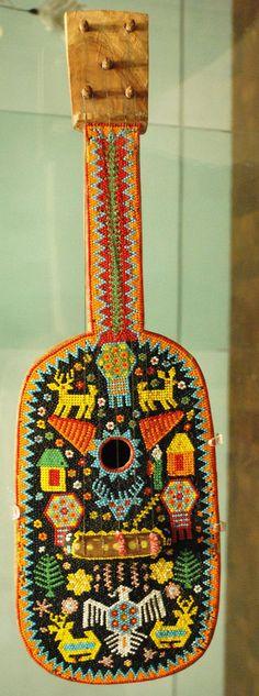 Museo de Arte Popular, Mexico City Picture Gallery ~ Huichol Beadwork Guitar