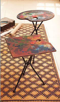 Tozai Home Artist Palette Folding Table Art Studio At Home, Studio Room, Home Art, Dream Studio, Art Studio Decor, Paint Studio, Studio Table, Painted Furniture, Diy Furniture