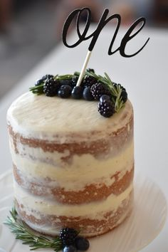 Baby boy's one year old naked cake for his birthday!
