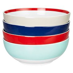 Buy House by John Lewis Studio Bowls, Set of 4, Multi Online at johnlewis.com