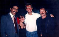 Richard Pryor, Mitzi Shore (co-founder and owner of The Comedy Store), David Letterman and Robin Williams
