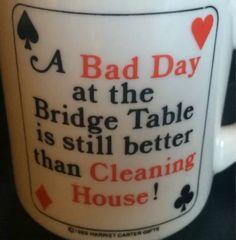 vintage mug for bridge players