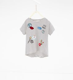 T-shirt remendos-Ver Tudo-T-SHIRTS-RAPARIGA | 4-14 anos-CRIANÇAS | ZARA Portugal