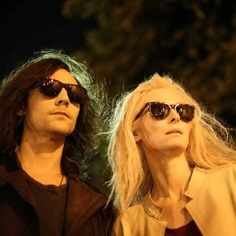 Tom Hiddleston And Tilda in Only Lovers Left Alive- wanna see this! Looks so funny and they look cool lol