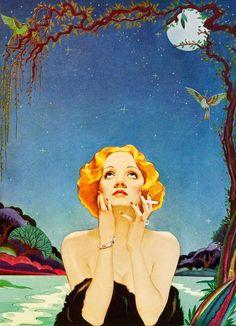 Marlene Dietrich by Alberto Vargas
