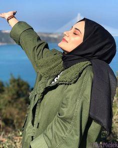K Aylar i in En Kolay 15 E arp al Ba lama Stili Casual Hijab Outfit, Casual Outfits, Muslim Fashion, Hijab Fashion, Hijab Style, Abaya Style, Muslim Beauty, Hijabi Girl, Muslim Girls