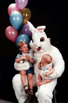 i'm crying too. Scary Easter rabbit and children.