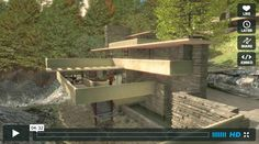 """Unbelievable 3d animation featuring the Frank Lloyd Wright masterpiece """"Falllingwater""""."""
