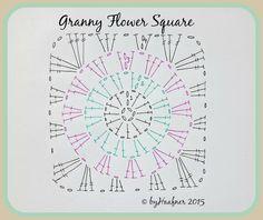 ByHaafner * crochet : Granny Flower Square - The Pattern!