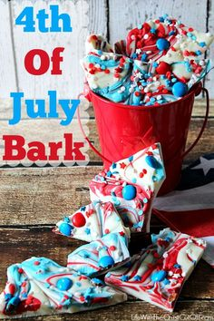 So easy to make and super festive! This Red, White and Blue bark is the perfect treat!