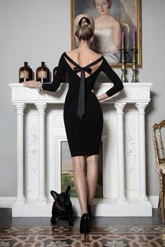 Lil black dress w/ the lil black bow Dsquared² Red & Black Collection