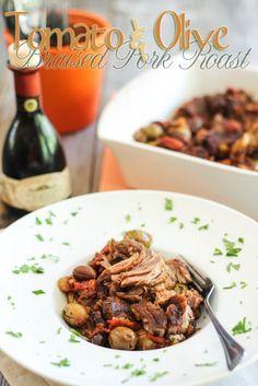 tomato & olive-braised pork roast