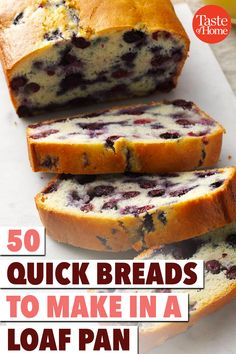 50 Quick Breads to Make in a Loaf Pan - Dessert Bread Recipes Loaf Bread Recipe, Loaf Recipes, Quick Bread Recipes, Cooking Recipes, Breakfast Bread Recipes, Cleaning Recipes, Recipes Dinner, Free Recipes, Fruit Bread