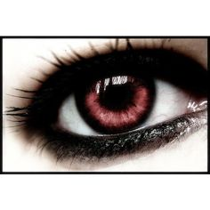 Vampire_Eye_by_EMOtionalchick217.jpg (600×395) ❤ liked on Polyvore featuring beauty products, eyes, makeup, beauty, eye makeup and contacts