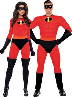 You're the ultimate crime-fighting duo in our The Incredibles Couples Costumes! True to character styling, The Incredibles Couples Costumes feature red jumpsuits with the 'i' insignia. Teen Boy Halloween Costume, Teen Boy Costumes, Halloween Costumes For Teens, Diy Costumes, Costume Ideas, Couple Costumes, Halloween Couples, Superhero Couples Costumes, Halloween Ideas
