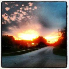 Crazy sunset! Spring Hill Florida