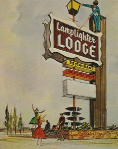 Back of postcard reads: Lamplighter Lodge and Restaurant 820 E. El Camino Real, Sunnyvale, Calif. 100 Beautifully Decorated Rooms and Suites - Telephones - T.V. - Radio - Taped Background Music - W/W Carpet - Custom Designed Furniture - Queen Long Beds - Conference Room - Heated Swimming Pool - Dinners - Cocktails - Banquets Published by Max Gosseling, San Jose, California Printed by Dexter Press