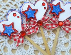 Hey, I found this really awesome Etsy listing at https://www.etsy.com/listing/75324025/sweet-lollipop-embellishments-patriotic