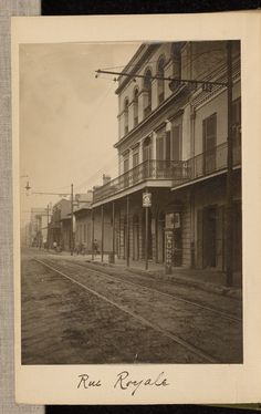 Rue Royale; Attributed to H.M. Beach (American, active 1890s); New Orleans…