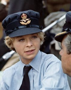 A gallery of Battle of Britain publicity stills and other photos. Featuring Susannah York, Christopher Plummer, Michael Caine, Kenneth More and others. Battle Of Britain Movie, Susannah York, 1969 Movie, Christopher Plummer, English Actresses, Great Films, Timeless Beauty, Captain Hat, Movies