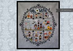 Whacky Witches in Stitches Halloween sampler PDF by cloudsfactory