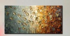 Feito à mão pintura a óleo faca de paleta grosso de ouro pintura flores pintura moderna Home da parede sala da arte da lona Decor imagem em Pintura & caligrafia de Casa & jardim no AliExpress.com | Alibaba Group