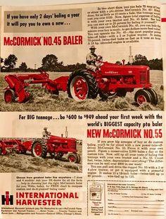 IH McCORMICK No.45 & No.55 Square Balers Ad