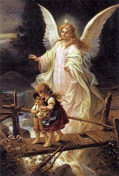 Framed Guardian Angel Print