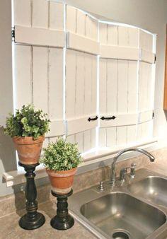 Marvelous 19 DIY Window Treatments To Update Your Space. Kitchen ShuttersDiy Interior  Window ShuttersWood ...