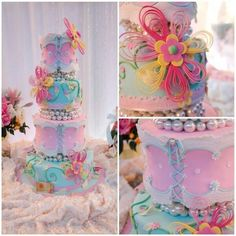 This cake is so delicate and beautiful.  I just LOVE IT!