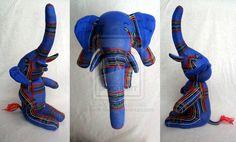 Funky sock elephant. by ~Sock-tacular on deviantART