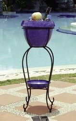 Duetto Elevated Planter & Beverage Cooler - Royal Blue