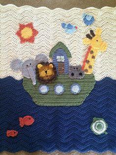 Personalizada manta de bebé Arca de Noé por TalulaCrafts en Etsy