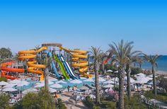 Deze leuke glijbanen van de kids vind je in het Long Beach Resort in Alanya - Turkije: http://www.prijsvrij.nl/vakanties/turkije/turkse-riviera/alanya/long-beach-resort