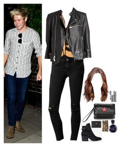 """""""B-clubbing with ur bf Niall and some friends"""" by onedirectionnhllz ❤ liked on Polyvore featuring memento, ASOS, AllSaints, Forever 21, Givenchy, Acne Studios, Rick Owens, Lacoste, Bobbi Brown Cosmetics and women's clothing"""