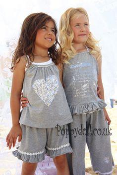 Mim Pi Grey Heart Shorts [mim462 ss12] - £11.20 : Poppydoll - Designer Children's Clothing