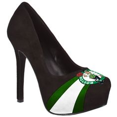HERSTAR™ Women's Boston Celtics High Heel Microsuede Pumps