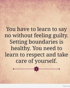 learn to say no without feeling guilty