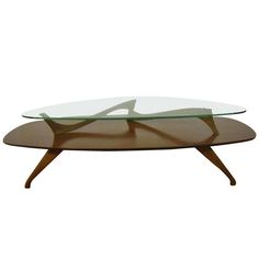 Fabulous Kagan Style Walnut Coffee Table Mid-century Danish Modern | From a unique collection of antique and modern coffee and cocktail tables at https://www.1stdibs.com/furniture/tables/coffee-tables-cocktail-tables/