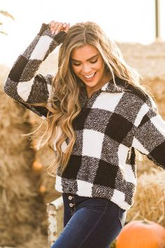 Our Buffalo Plaid Sherpa Half Zip is a must-have this season! The fabric is so soft that you're sure to wear it all winter long! And don't forget how cozy you will be in the sherpa fabric! This jacket is easy to wear and super fun to style! Pair it with your favorite jeans and a fun hat for a killer outfit! Casual Outfit Ideas, Cute Casual Outfits