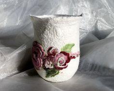 Windlichter - Großes Rosenlicht - ein Designerstück von FilzPunkt bei DaWanda