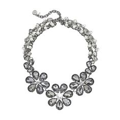 Simply Vera Vera Wang Two Tone Simulated Pearl, Simulated Crystal and Bead Flower Necklace