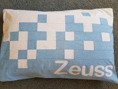 Baby blue pillowcase www.facebook.com/KATNAPquilts
